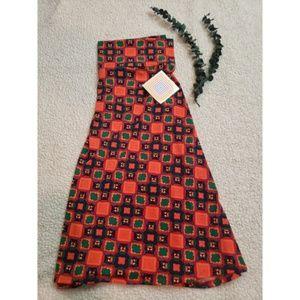 LuLaRoe XL Azure Geometric Flare Skirt